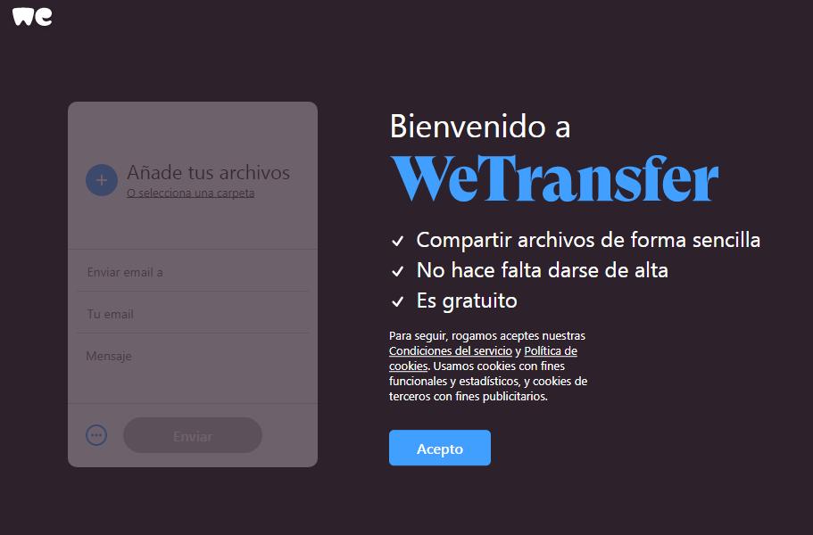Wetransfer en español