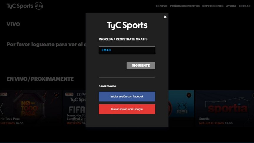 cómo ver tyc sports play en smart tv
