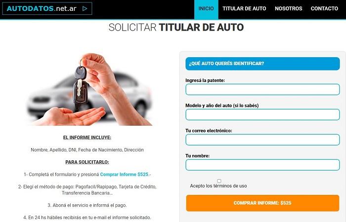 Cómo averiguar titular por patente gratis [Automotor Argentina] 3