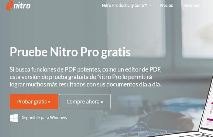 Cómo descargar Nitro PDF gratis 1