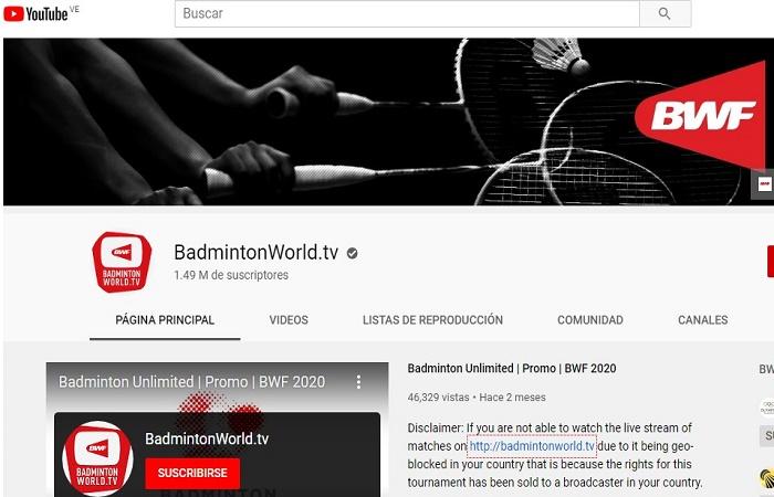 Cómo ver badminton en directo online gratis 100% legal 1
