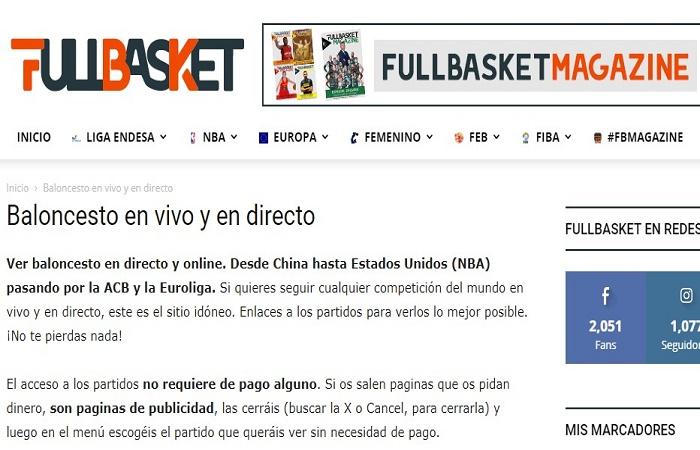 Cómo y dónde ver baloncesto (basket) en vivo online gratis 2