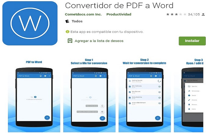 Convertir pdf a word gratis 6