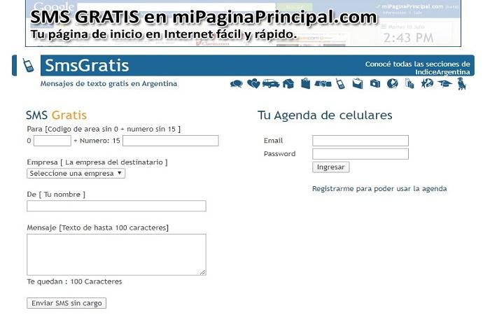Personal SMS Online GRATIS - Envía mensajes en Argentina 5