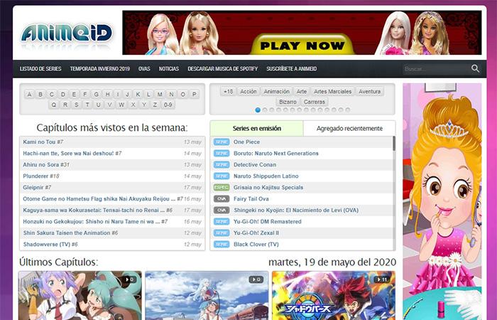 paginas para ver anime online gratis