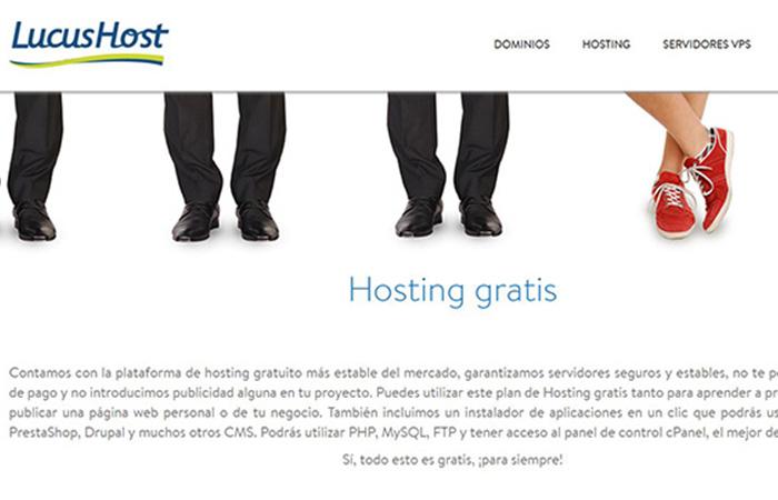 lucushost, hosting gratis en español